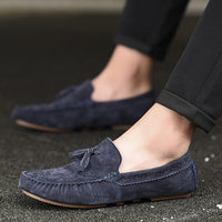 New Men Tassel Loafers Cow S Leather Formal Shoes Elegant Dress Shoe Simple Slip On Man Casual Footwear