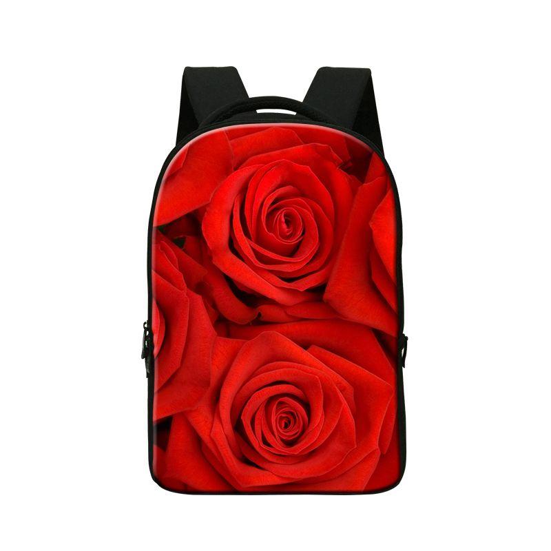 00b16ba2c Dispalang fashion women computer backpack red rose printing travel double  shoulder computer notebook bag campus laptop bagpack