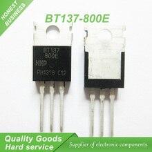 10 шт. бесплатная доставка BT137-800E BT137 TO-220 BT137-800 800 В 8А Симисторы RAIL СИМИСТОР новый оригинальный