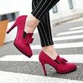 Aiweiyi nuevo real photo fondo rojo bombas de los altos talones finos de Tacón alto Zapatos de Las Mujeres de Las Señoras Zapatos de Boda Negro Sexy Chaussure femme