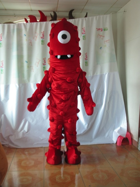 Hot sale brown fashion red monster mascot costume custom made mascot fancy dress costumes animal costume & Hot sale brown fashion red monster mascot costume custom made mascot ...