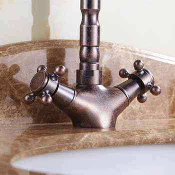 Oil Rubbed Bronze Kitchen Faucet | Brass Bathroom Basin Faucet Hot And Cold, Oil Rubbed Bronze Retro Toilet Basin Faucet, Antique Copper Kitchen Basin Faucet Mixer