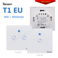 Sonoff T1 WiFi Switch Smart Home Automation EU 1 2 Gang Panel 433MHZ Touch WiFi RF