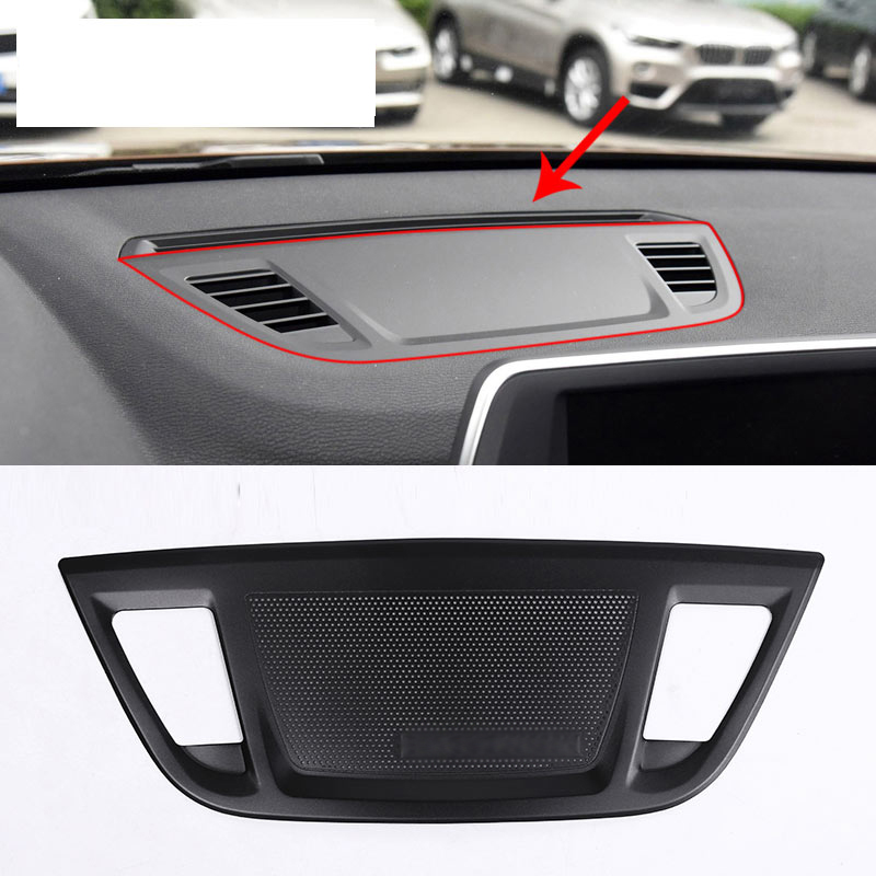 car styling for bmw x1 f48 2016 2017 aluminum alloy center control console dashboard speaker. Black Bedroom Furniture Sets. Home Design Ideas