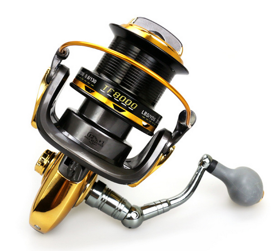 BIG Large Fishing reel Metal CNC rocker Distant Wheel Mix drag 24kg/52lb Strength spinning reel Saltwater Sea fishing saltwater reel jigging 15w 60lbs balanced drag offshore inshore sea game fishing silky smooth super light gomexus