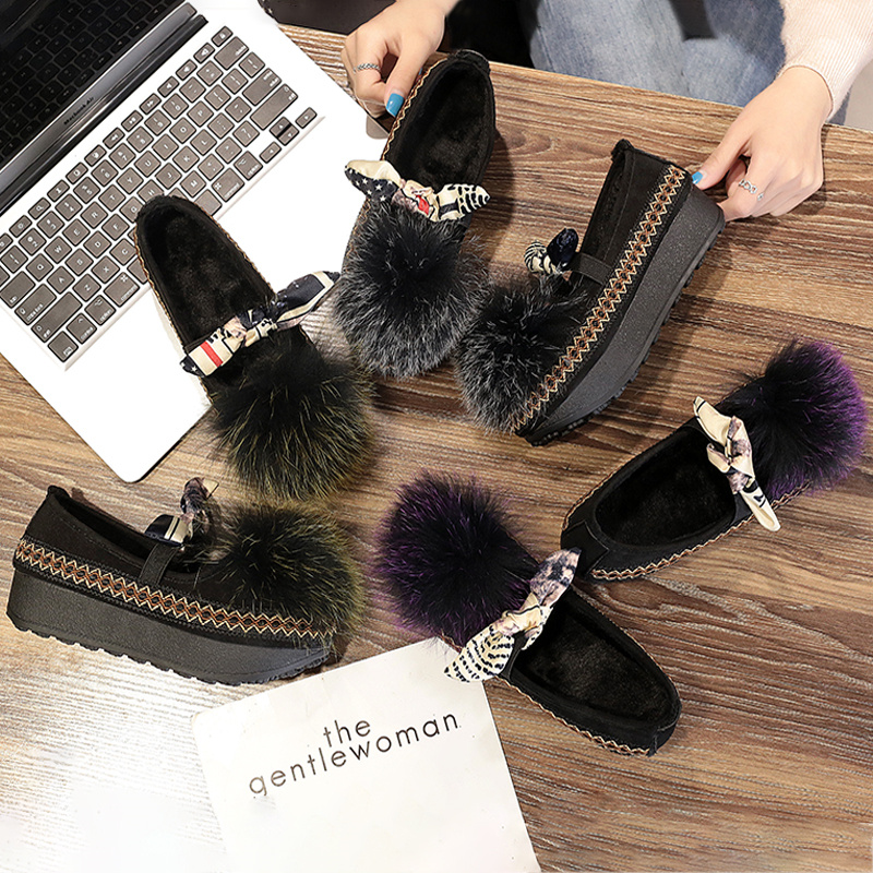 Noir Velours D'hiver Semelles Muffin lavande Avec 2017 De Étudiantes Fond Nouvelles Chaussures Mode Épaisses vert 1qwnZnH7I