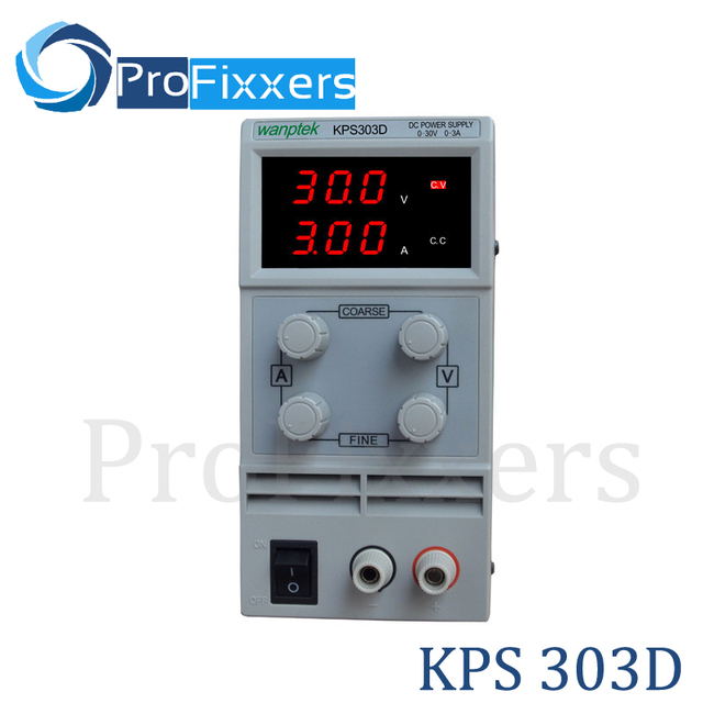 Hot KPS303D Adjustable High precision double LED display switch DC Power Supply protection function30V3A 110V-230V 0.1V/0.01A EU