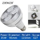220V E27 PAR30 LED Lamp Bulb 35W New Ultra Bright LED Light Lampara Built-in Fan Cooling For Track Lighting Downlight Spotlight