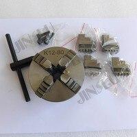 Mandril auto-centralização do torno de sanou 4 maxilas mandril K12-80 80mm