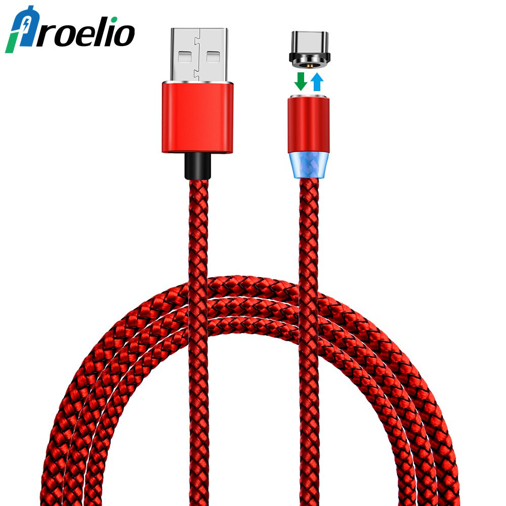 1M Magnetic USB Type C Cable Fast Charging Magnetic Type-C USB-C Cable Adapter For Samsung S8 Note 8 Xiaomi Mi5 Mi6 Nexus 6P/5X
