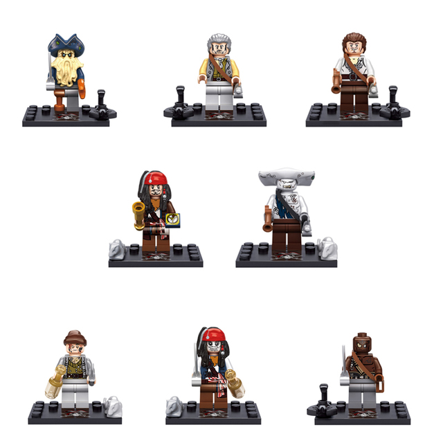 Pirates Of The Caribbean Building Block Kit Jack Sparrow Hector