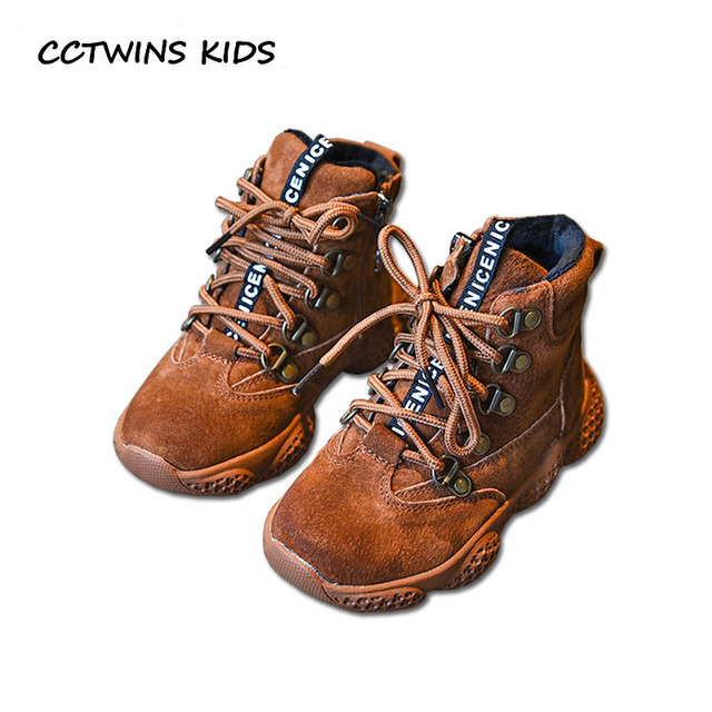 52fe3a00472 US $54.19 |CCTWINS KIDS 2018 Winter Children Black High Top Sneaker Baby  Girl Brand Sport Shoe Boy Fashion Genuine Leather Trainer FH2369 -in  Sneakers ...