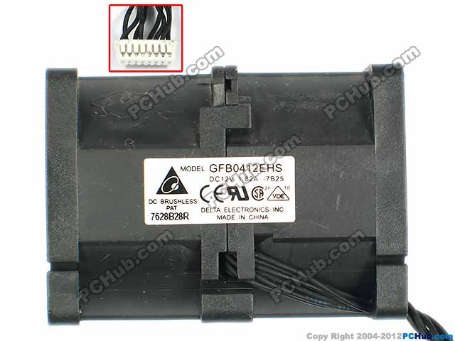 Delta Electronics GFB0412EHS -7B25 820-2003-A Server Square Fan DC 12V 1.82A 40x40x55mm 8-Wire free shipping for delta afc0612db 9j10r dc 12v 0 45a 60x60x15mm 60mm 3 wire 3 pin connector server square fan