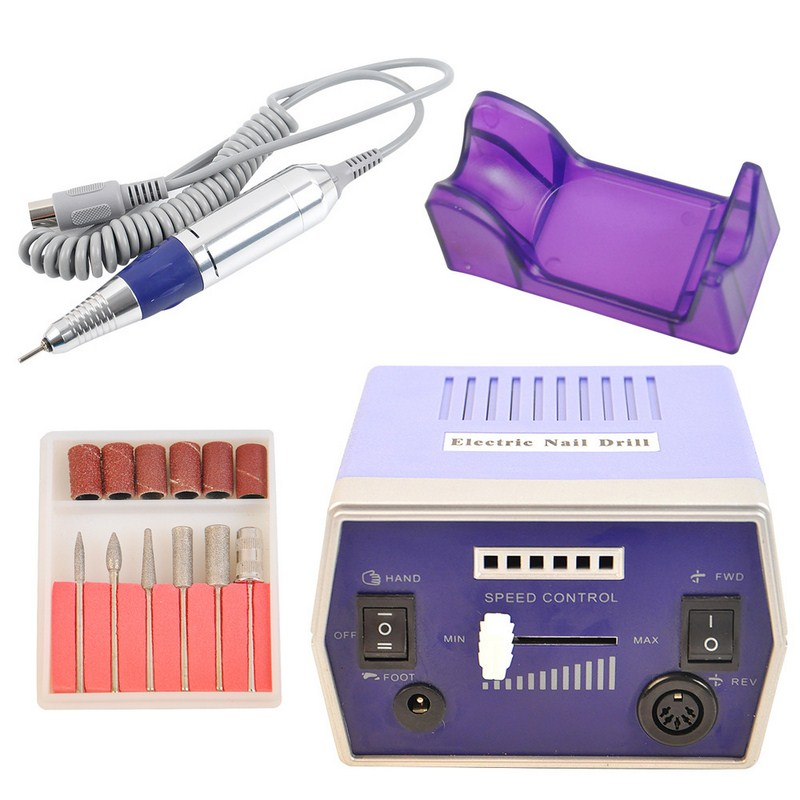 Wiertarka do paznokci 25000 RPM Elektryczna pilniczka do paznokci o zmiennej prędkości 220V Narzędzia do zdobienia paznokci na żel do paznokci
