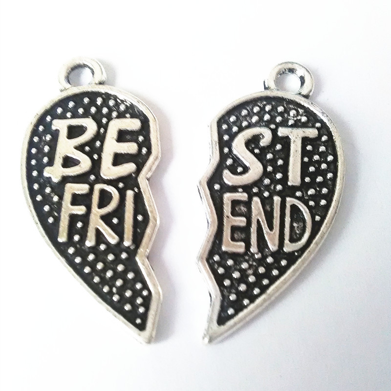 2017 New Best Friend Black All Over The Sky Star Zinc Alloy Silver Pendant for Necklace Bag Car Keyring Bookmarks Hand catenary
