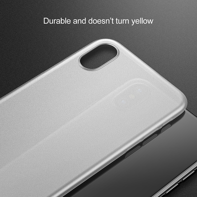 Baseus iPhone XS XR XS Max Ultra Thin Slim Frosted Back Case Cover