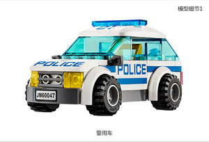 Image 4 - Bela 10424 City Police Station motorbike helicopter Model building kits compatible with  city 60047 blocks Educational toys