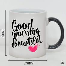 Morphing Mug - Funny Coffee Good Morning Beautiful Heat Sensitive Changing Color Cup Can personalized DIY your own