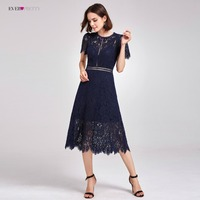 New Arrival Cocktail Dresses Ever Pretty AS05922 Women S Cheap A Line Lace Short Sleeve Cut