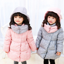 Girls Winter Coat Down Jacket Children Clothing Duck Thick Coat Manteau Fille Hiver Baby Padded Coats Down Jacket 70Z037