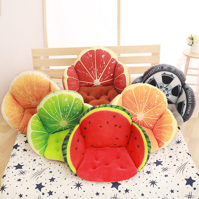 Comfortable Fruit 3D Pillows,Nordic Chair Cushions Fruit