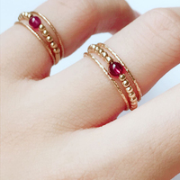 Handmade Natural Garnet Rings Custom Knuckle Jewellery Gold Fiilled Femme Anillos Anel Boho Jewelry Joyas Aneis Rings for Women