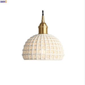 Image 2 - IWHD Nordic Japan Style Pendant Lights Fixtures Dinning Living Room Light White Ceramic Copper Vintage Pendant Lamp Hanglamp
