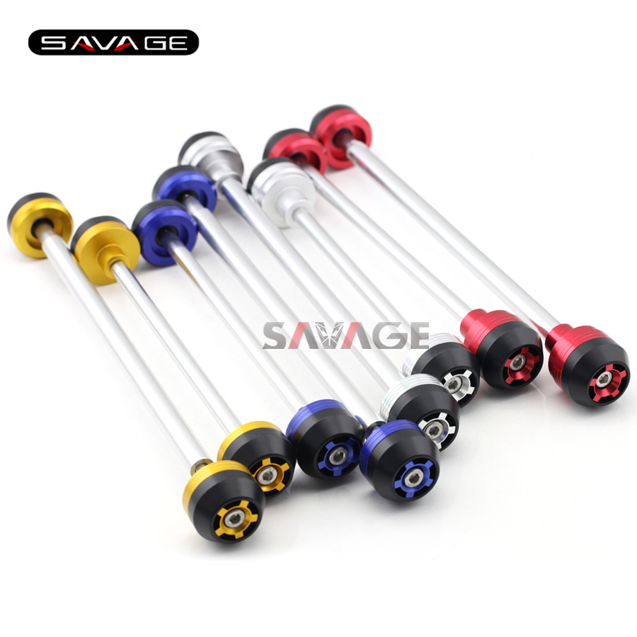 For YAMAHA XJR 1300 XJR1300 1998 1999 2010 Motorcycle Aluminum Front & Rear Axle Fork Crash Sliders Wheel Protector