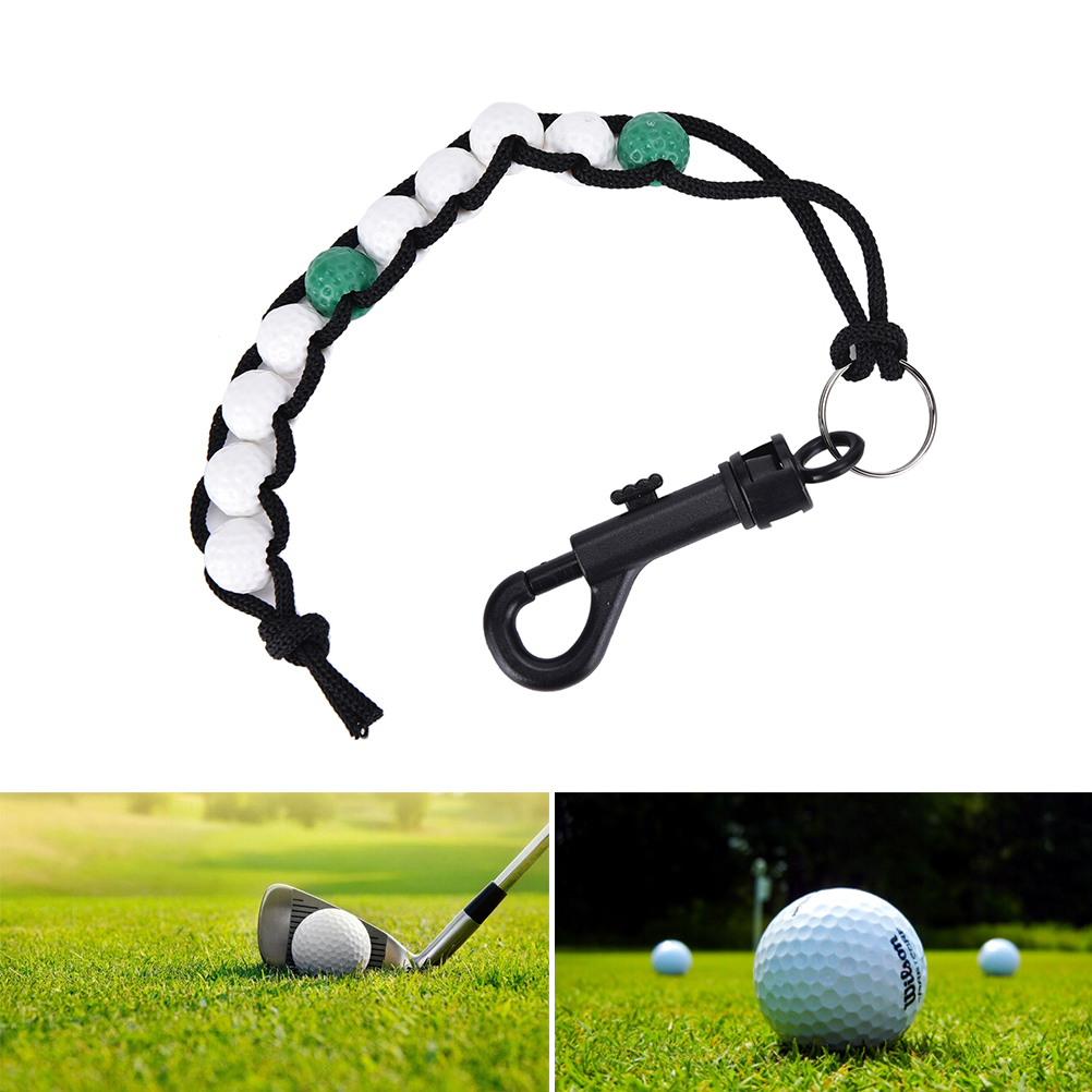 1Pcs Golf Ball Beads Score Counter Stroke Putt Scoring Chain With Clip Club Golf Accessories