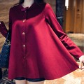Chalecos Mujer Limited Time-limited Cotton Novelty Long Solid O-neck Vest Vest 2016 Temperament A Word Cloak Coat Doll Bow