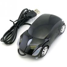 Mini 3D Car shape USB optical wired mouse innovative 2 headlights mouse for desktop computer