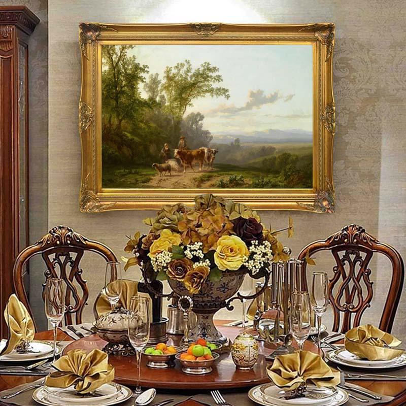 Non encadré qualité imprimé à la main pastorale peintures à l'huile Buckaroos vache sur toile peinture pour maison chambre décoration Art photo