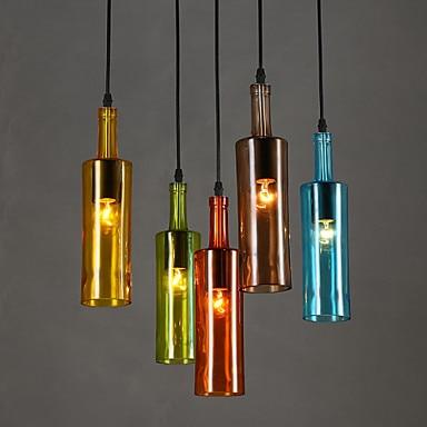 Colorful Bottle Modern LED Pendant Light For Coffee Dinning Room Handing Lamp Suspension Luminaire Hanglamp гарнитура audio technica ath avc200