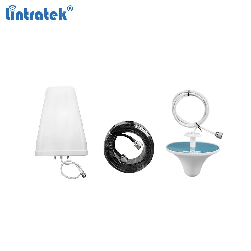 Full Set Antenna For Signal Boosters 10dB LPDA Outdoor Antenna 3dB Ceiling Indoor Antenna Plus 10 Meters Cable For 2g 3g 4g #7.2