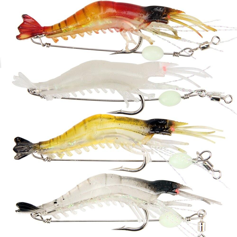 Silicone Soft Bait 6g Luminous Shrimp Fishing Lure