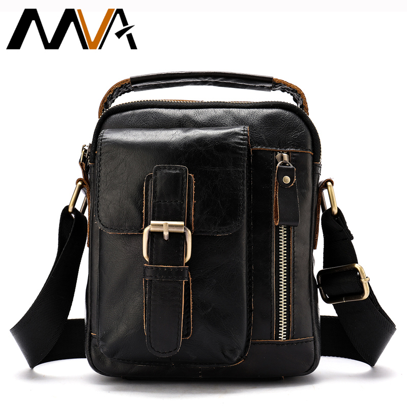 MVA Messenger Bag Men Shoulder Bags Men's Genuine Leather Male Man Crossbody Bags for Messenger Men Leather Bags Handbags 8362 mva genuine leather men bags new man briefcase laptop handbag messenger bag men s business bags male crossbody handbags