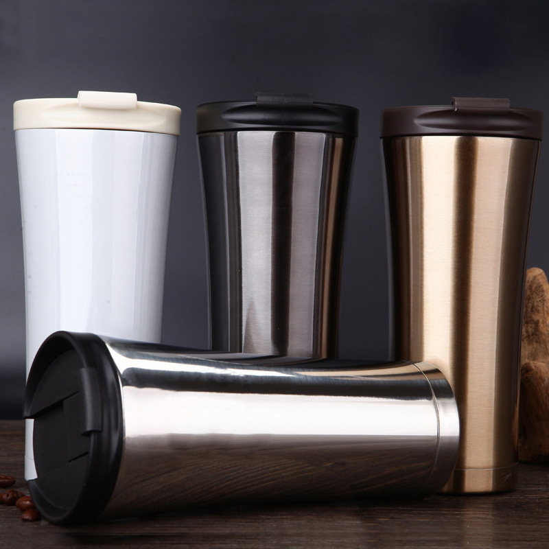 500ml Tumbler Double Walled Vacuum Insulated Mug Car Stainless Steel Travel Coffee Cup Leak Proof Drinking Water Bottle
