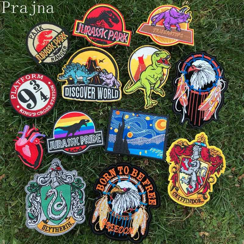 Prajna Jacket Patch Star Wars Stalker Cloth Metal Patch jurassic Park Embroidered Iron On Patches For Clothing Stripes Stickers