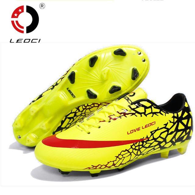 LEOCI Wear-Resisting Football Boots Cleats Soccer Shoes Mens Football Cleats  Boot Chuteiras Botas De 23e72fd2d