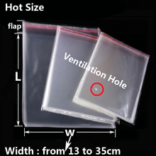 Transparent Self-adhesive OPP Poly Plastic Envelope Packaging Bags Self Sealing Resealable Clear Cellophane Bag Baggie