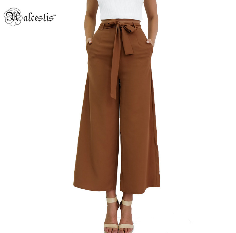 Alcestis Pants Women 2017 Summer Nine Pants Casual High ...