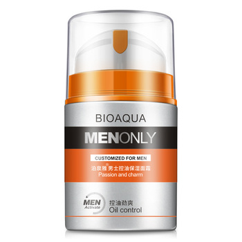 BIOAQUA Brand Men Skin Care Deep Hydrating Moisturizing Oil-control Whitening Face Cream Anti Wrinkle Anti-Aging Day Cream 50g