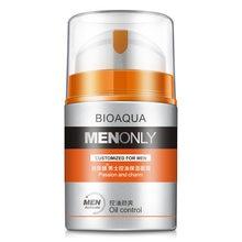 BIOAQUA marka erkekler cilt bakımı derin nemlendirici nemlendirici yağ kontrol beyazlatma yüz kremi kırışıklık karşıtı Anti-Aging gün krem 50g