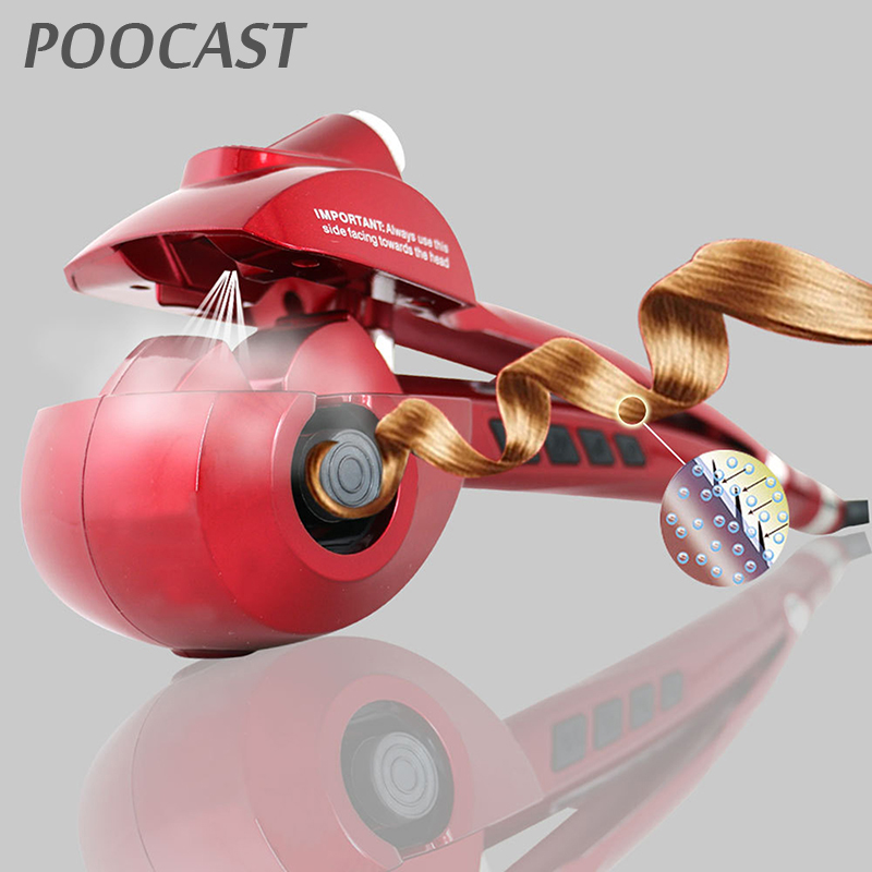 Free shipping Automatic Hair Curler Steam Spray Hair Care Styling Tools Ceramic Wave Fast Magic Curling Iron Hair Styler professional automatic steam spray ceramic hair curler roller led digital waver magic curling iron hair styling tools styler