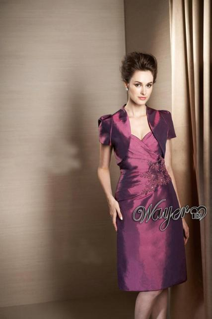 Elegant Lace Appliques Short Style Mother Of The Bride Dress Knee