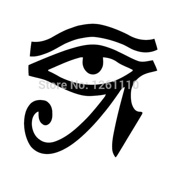 Hotmeini 12 7cm eye of horus vinyl sticker decal wall egypt pagan car window car bumper