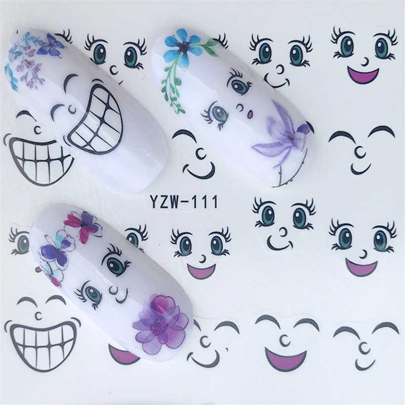 Вода фольга, ногти искусство Стикеры модные гвозди из мультфильма Harajuku Сейлор Мун переводные наклейки для маникюра