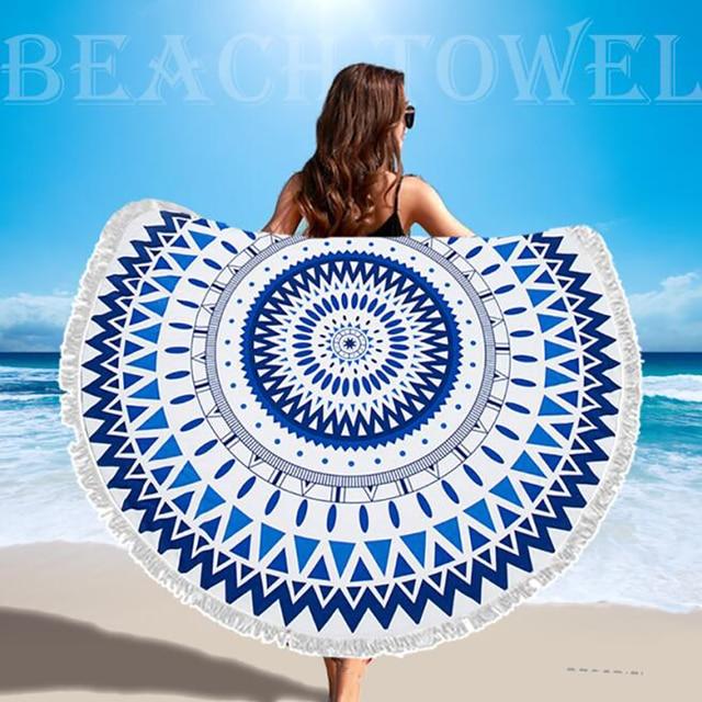 SDARISB Microfiber Fabric Bath Towel Round Beach Towel Wholesalers Large Towel Wholesalers Watermelon Lemon Vacation Products 1