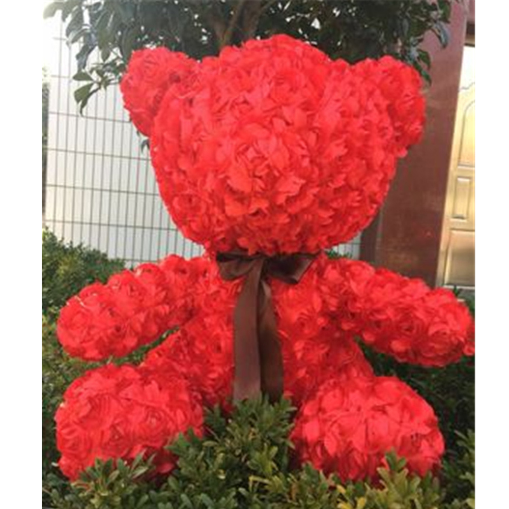 Fancytrader красная Роза плюшевый медведь игрушка хорошее качество большой медведь плюшевая кукла 70 см 28 дюймов для детей взрослые подарки - 5