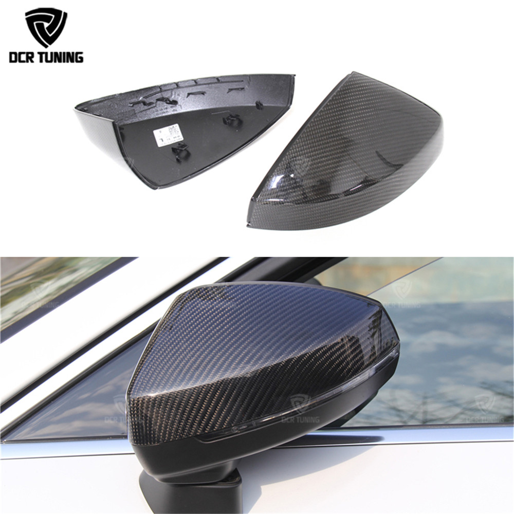 Carbon Fiber side Mirror Cover For Audi A3 S3 2014 2015 2016 - UP 1:1 Car Styling side caps Replace style & Add on style for audi s3 2014 2015 add on carbon fiber mirror covers